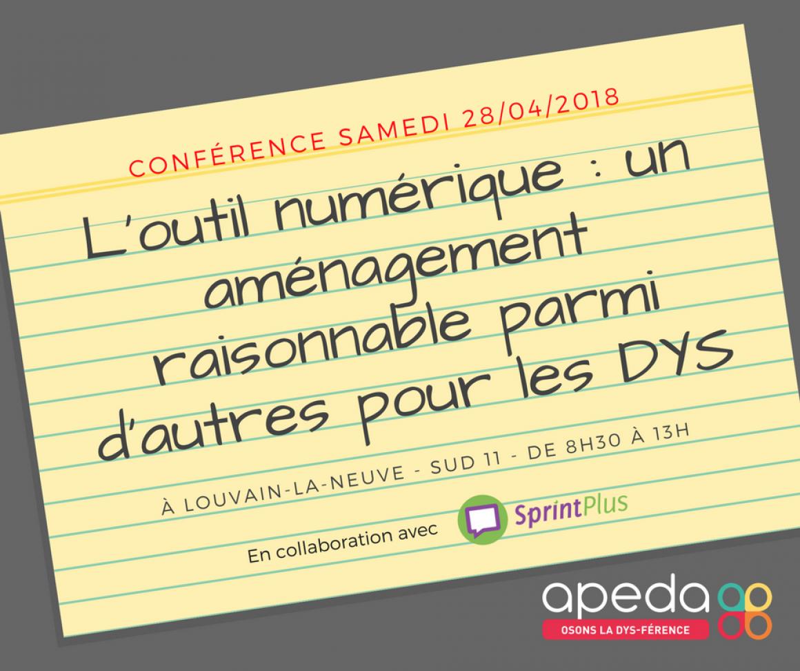Journée numérique et apprentissages 2018 en collaboration avec Apeda