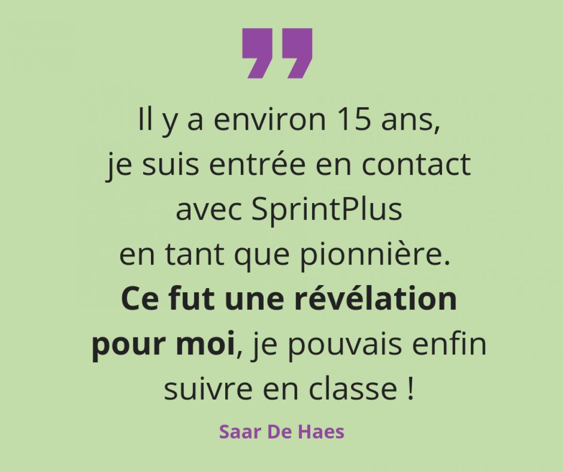 Rencontrez Saar, notre pionnière de SprintPlus