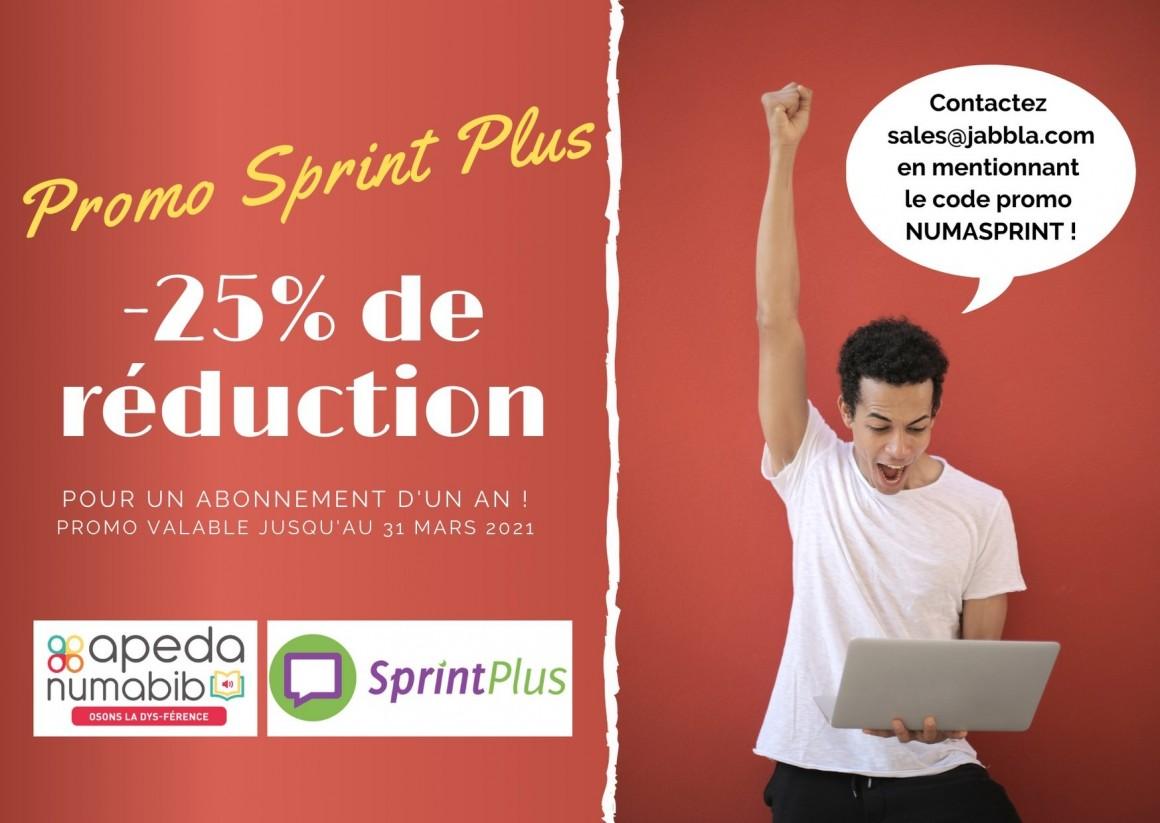 Action APEDA : - 25 % de réduction pour un abonnement SprintPlus